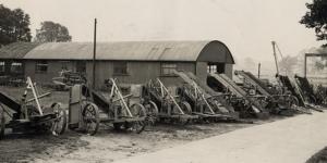 Black and white photo of thwaites factory - 1937