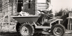 1955 worker driving truck