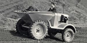 1957 worker driving truck