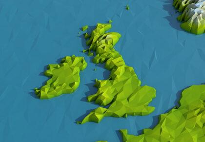 Low Poly UK and IrelandMap